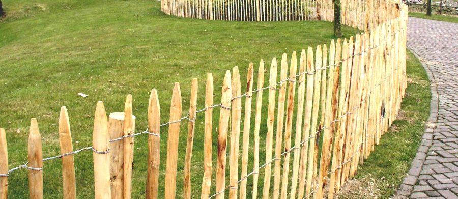 Frans rasterhekwerk kastanjehout